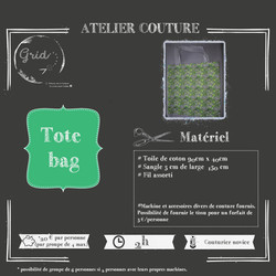 Atelier couture Tote bag