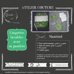 Atelier couture lingettes lavables
