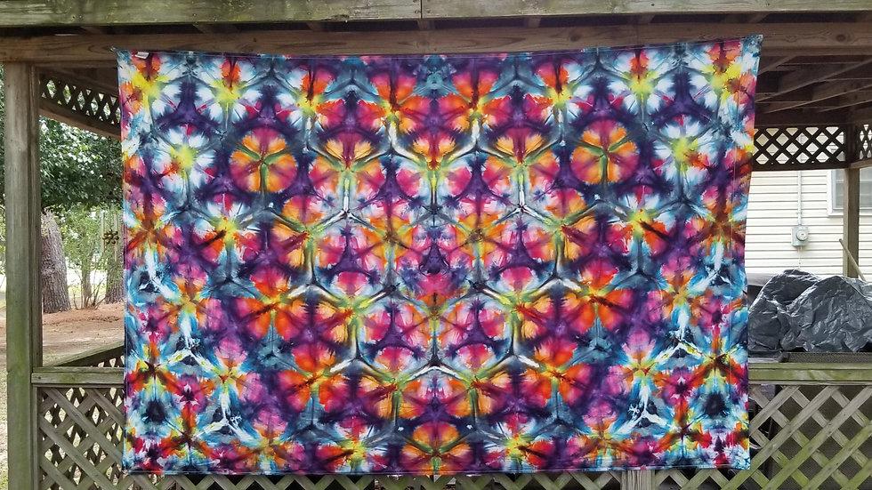 Flowers for Hexigons Tapestry