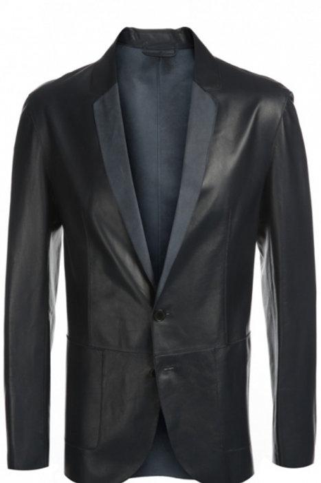 Пиджак без подклада кожанный