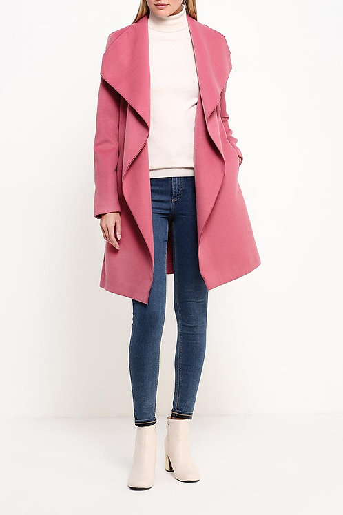 Пальто до колена без подклада