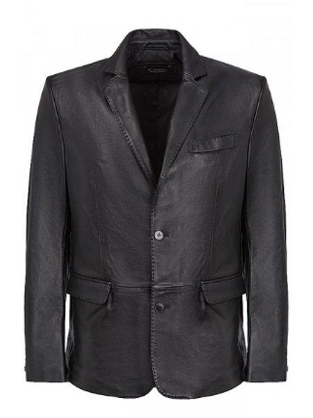 Пиджак с подкладом кожанный