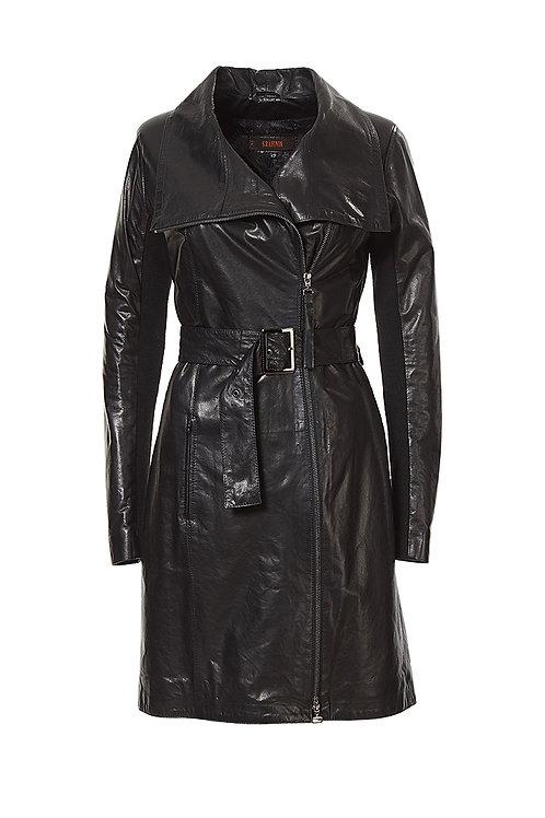 Окрас: кожаное пальто ниже колена