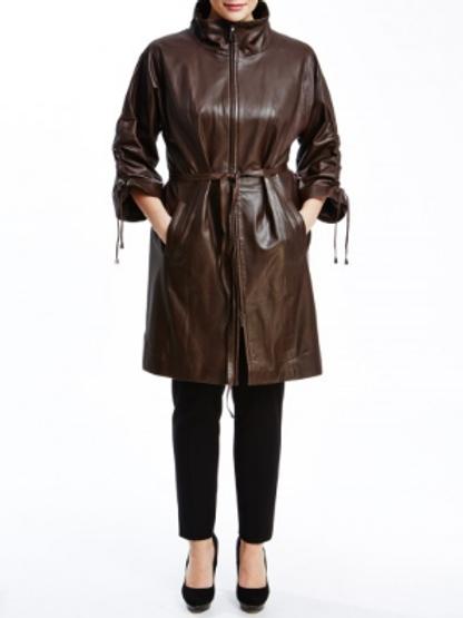 Куртка до колена кожа