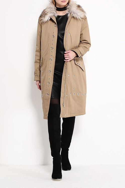 Куртка ниже колена текстиль
