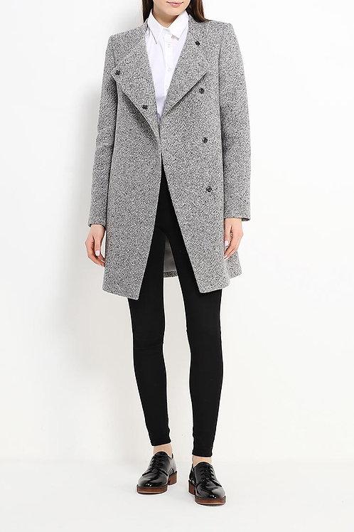Пальто до колена утепленное