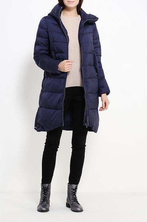 Пальто до колена на пуху