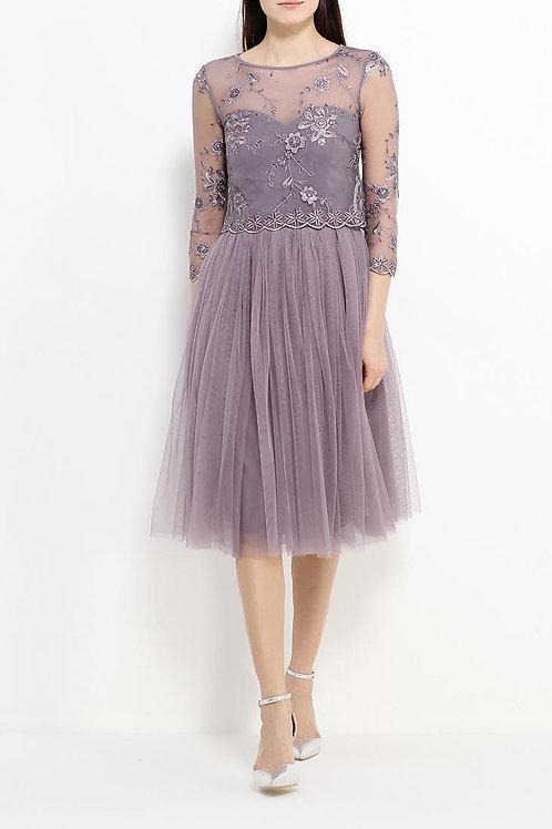 Короткое сложное платье