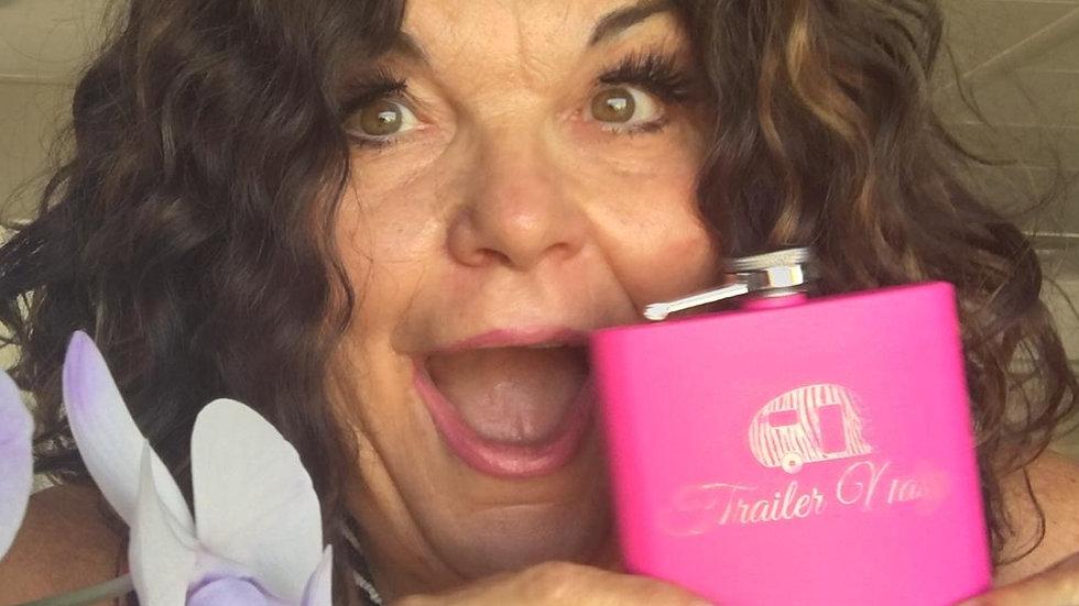 6oz HOT Pink Vicki Barbolak Flask