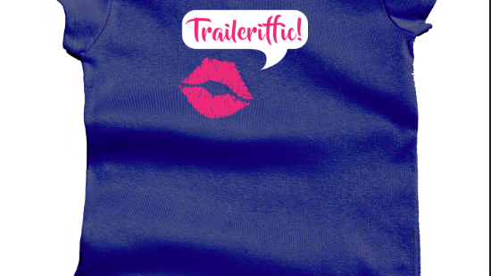 Trailerific Ladies Blue T Shirt