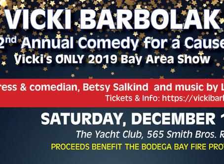 VICKI BARBOLAK raises funds for Bodega Bay Fire Department
