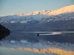 Boating on Lake Wakatipu