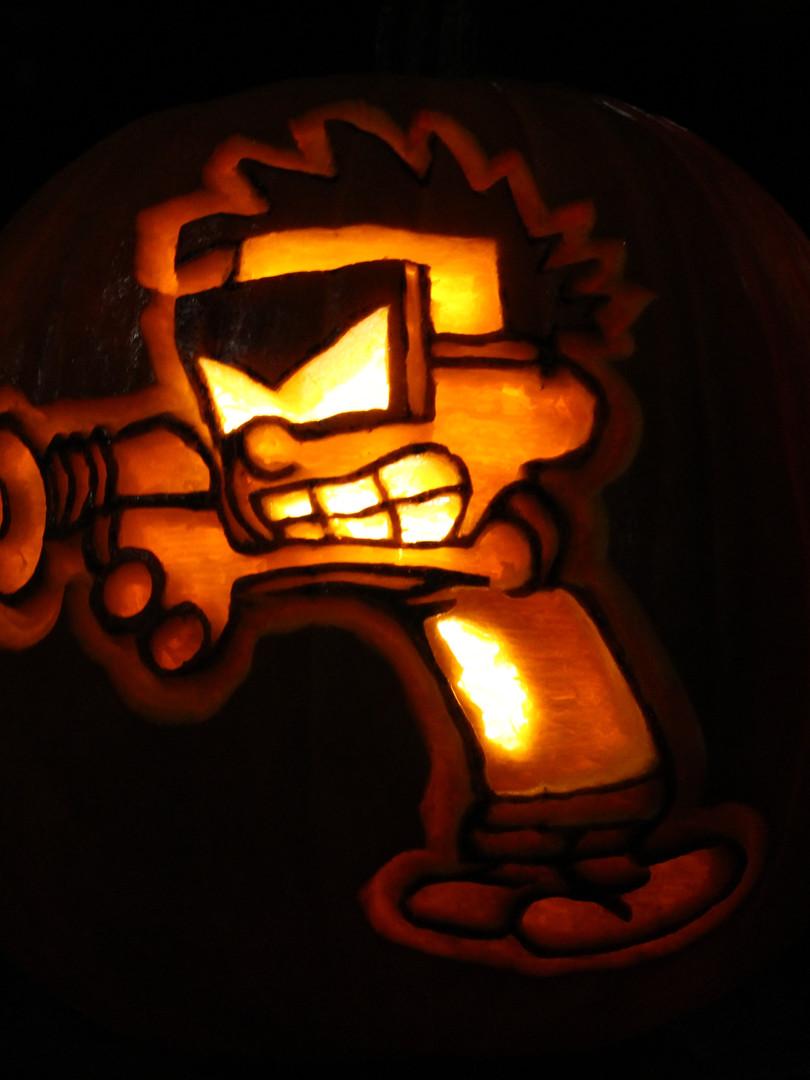 Spaceman Spiff Jack o Lantern