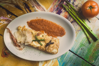 prosicutto omelette