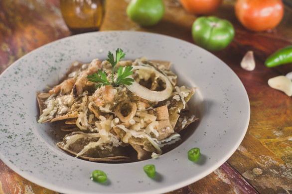 seafood chilaquiles