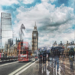 _If you are tired of London you are tired of life_ #doubleexposure #travel