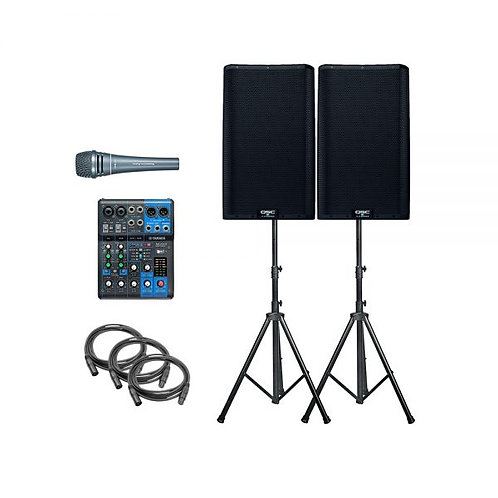 2 Speaker PA System (incl. 1 x Hand Mic)