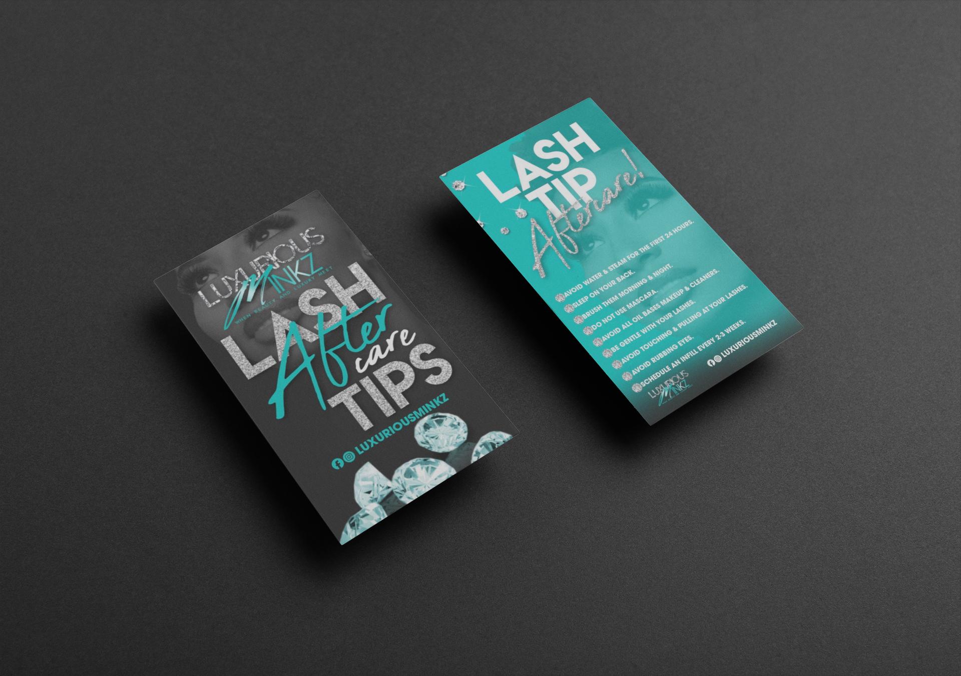 Lash Tip Cards