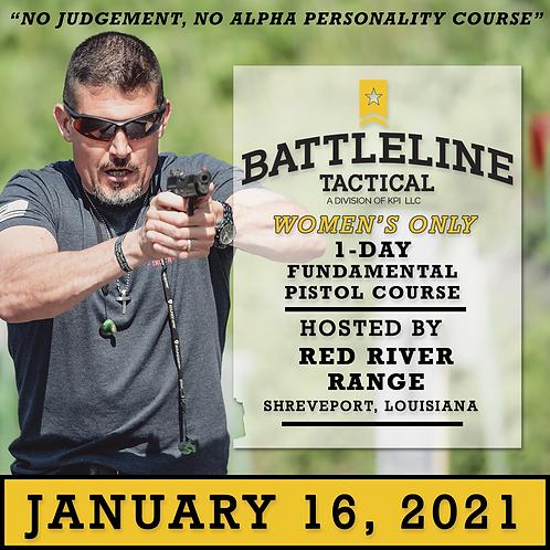 [1-DAY - WOMEN'S ONLY] Fundamental Pistol Course  - Louisiana