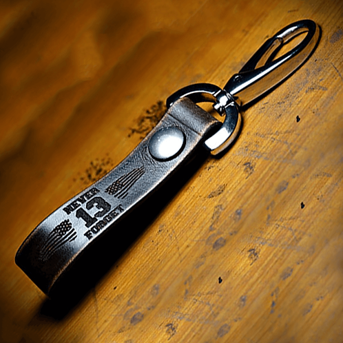 Forj'd - Never Forget 13 Hours Leather Key Chain