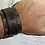 Thumbnail: Forj'd - Forge Ahead Leather Cuff with Tanto Signature