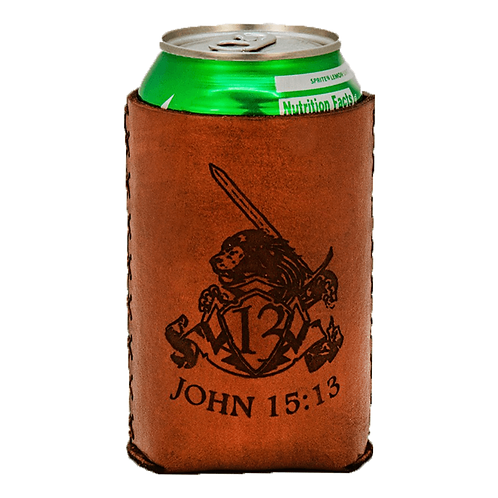 Forj'd - John 15:13 Leather Koozie