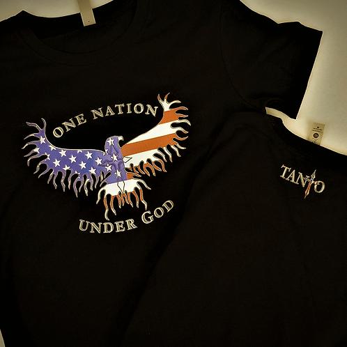 "Women's ""One Nation Under God"" Tee (Black)"