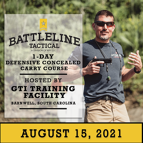 [1-DAY] Defensive Concealed Carry Course - South Carolina