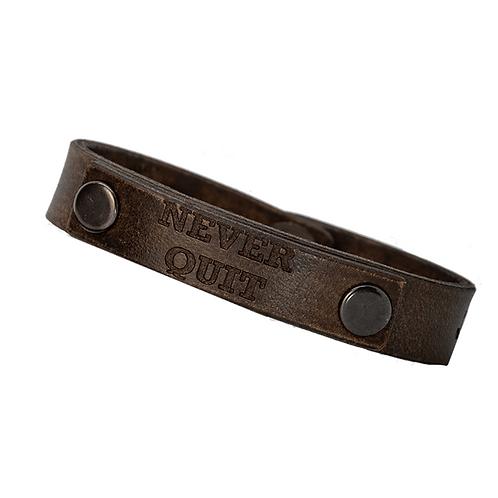 Forj'd - Never Quit Thin Leather Dual Layer Bracelet