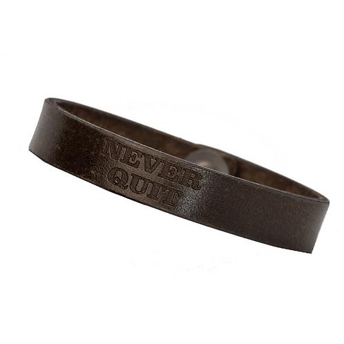 Forj'd - Never Quit Thin Leather Bracelet