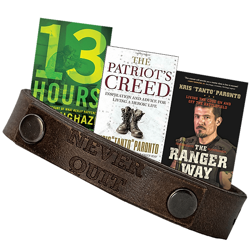 [Limited Bundle] Forj'd Never Quit Double Leather Bracelet and Book
