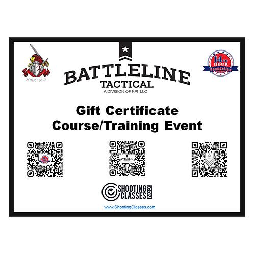 Battleline Tactical -  Gift Certificate