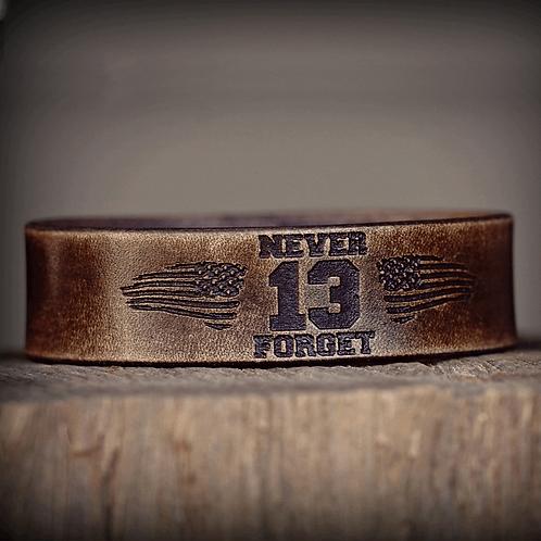Forj'd -  NEVER FORGET 13 HOURS Leather Bracelet
