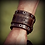 Thumbnail: Forj'd - John 15:13 Leather Cuff with Tanto Signature