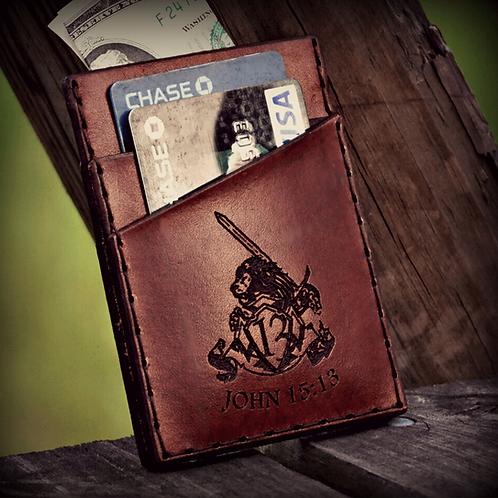 Forj'd - John 15:13 Front Pocket Wallet