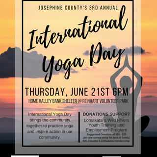 International yoga day poster US Letter