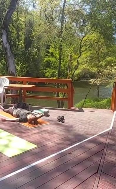 Earth day yoga fundraiser we raised $140