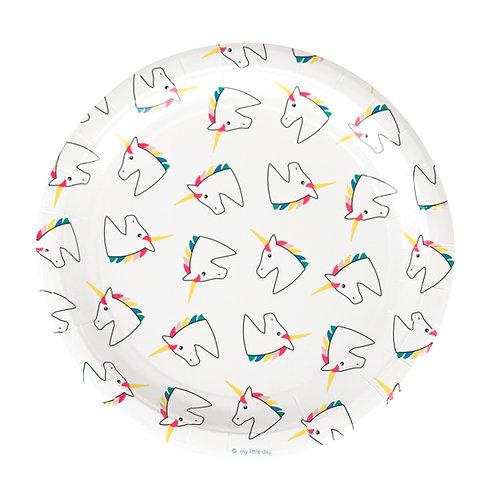 Rainbow Unicorn Plates