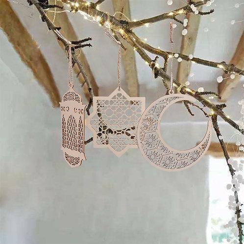 Wooden Geometric Hanging Decorations
