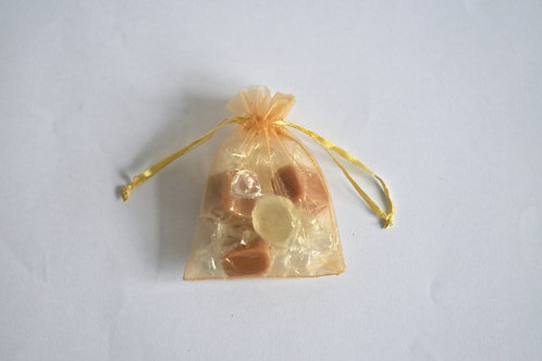 Gold Organza Drawstring Bag
