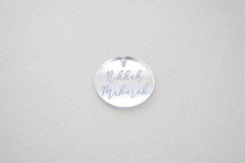 Silver Nikkah Mubarak Tags