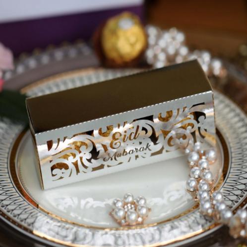 Silver Eid Mubarak Favour Box
