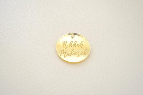 Gold Nikkah Mubarak Tags