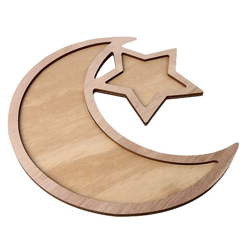 Crescent Moon & Star Serving Tray