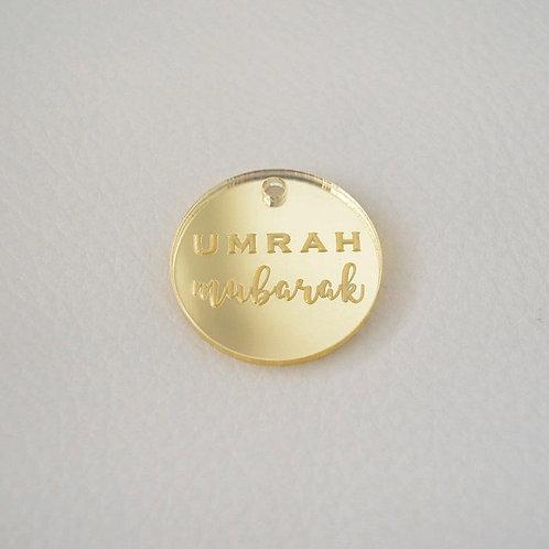 Gold Umrah Mubarak Tag