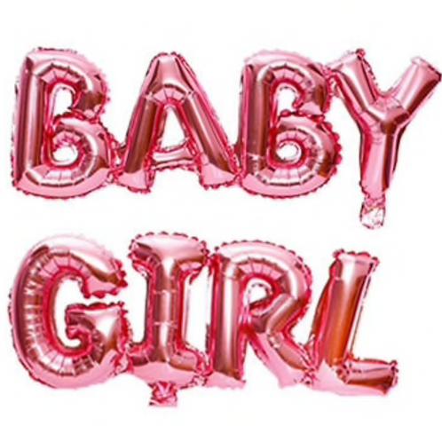 Baby Girl Letter Balloons