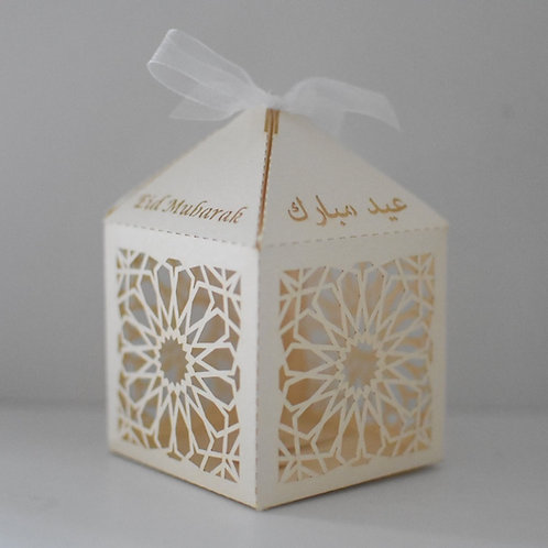 Ivory Geometric Eid Mubarak Box