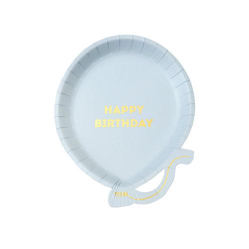 Blue Balloon Plates