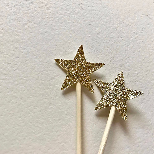 Mini Star Cupcake Topper