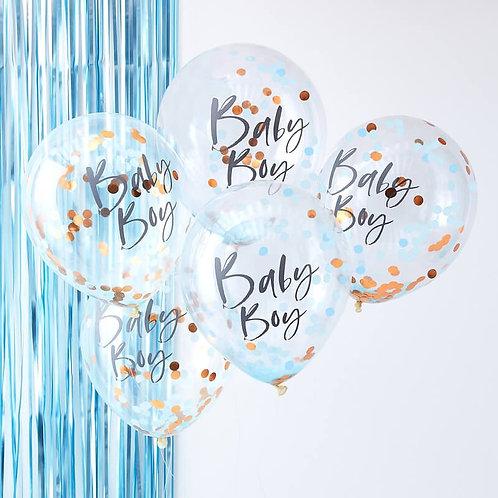 Baby Boy Confetti Balloons